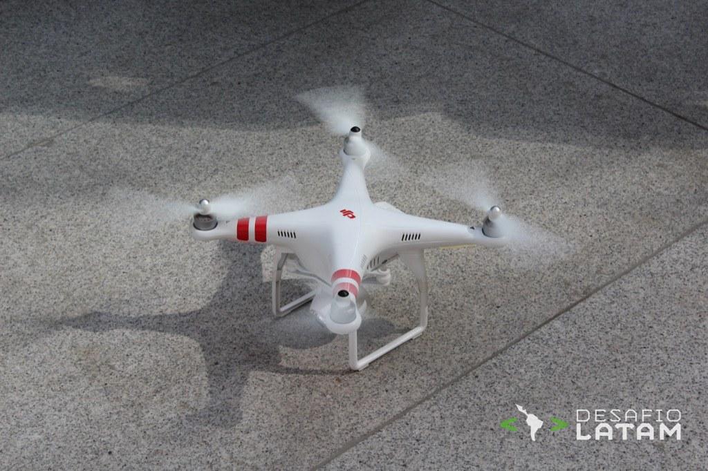 Robotics Day - Dron aterrizando